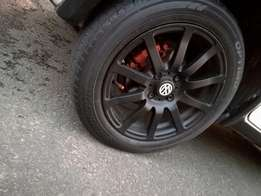 Rims and tyres for swap