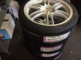 "Brand New 17"" KRS Racing Monoblock TWN Sports Mags & Tyres R6800"