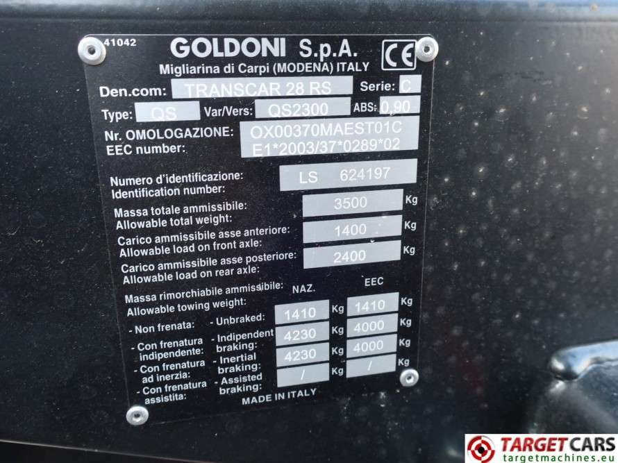 Goldoni Transcar 28RS Utility 4WD Tipper 3-Way Dumper NEW - image 10