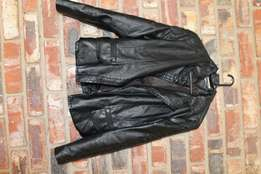 Woman's dresses & leather jackets.