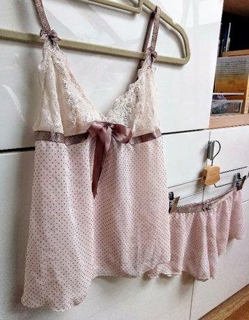 7c3c0f20aceea Bielizna nocna piżamka komplet biszkoptowy pudrowy róż Szczecin - image 3