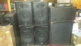 Speakers amp and mixer