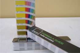 Pantone Matching Color Chart Coated / Uncoated PMS Colours Ink Printer
