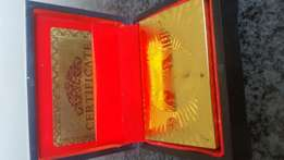 24 ct gold plated playing cards