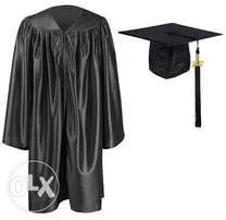 Graduation gowns available for hire