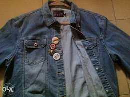 S&F Blue Denim Jacket (with free pin badges)