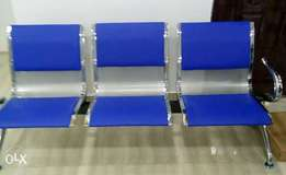 Padded Steel airport/visitors ffice chair.