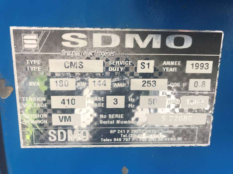 Sdmo Cummins - 180 kVA Generator - DPX-11858 - 1993 - image 4