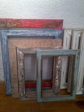 rustic, distressed, white-washed frames Table View - image 1