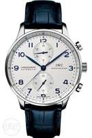 Latest IWC leather men wrist watch