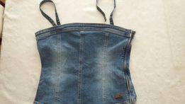 b4e62c60e5d7e6 Bluzka jeansowa/gorset rozm. L