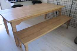 8 Seater Dining Table & Bench