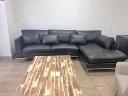Never been used genuine leather corner couch. Retails for R30 000.