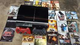 PS3 full set with 16 Original disk games