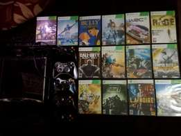 Xbox 360 kinect 5 controllers over 40 games