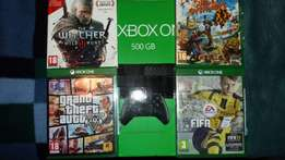 XBOX ONE + FIFA 17 + GT5 + Witcher 3 + Sunset Overdrive