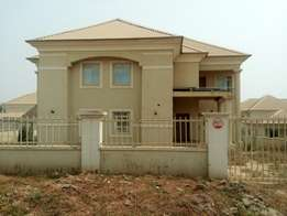 In Amsco Estate Galadimawa- 5bedroom fully and semidetached duplex