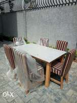Marble top 6 seater dinning set