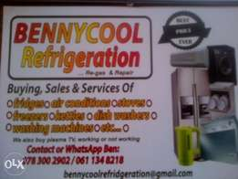 bennycool Fridge repair and air conditioning service areas of midran