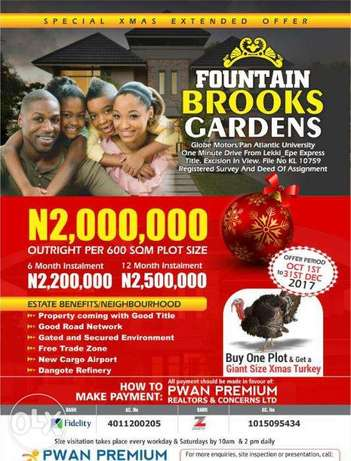 Fountain Brooks Gardens Real Estate Investment Offer Lekki - image 1