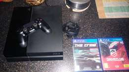 PS4 500 Gig New 8 Months 1 Sony Remote 2 Games