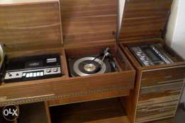 Old Antique Wood Cabinet Blaupunkt Stereo