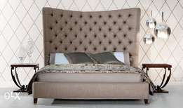 Butterfly bed with high headboard