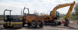Machinery training operators mobile crane excavators dump trucks tlb