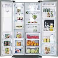 side by side ice and water dispenser two door fridge for sale