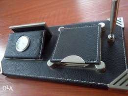 4 in 1 Leather Desk Organiser.