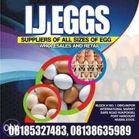 IJ EGGS Supplies of all sizes of egg - wholesale and retail.