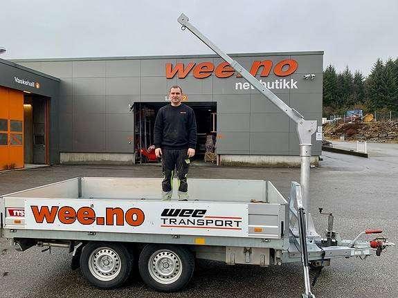 Tilhenger Krane Kran + Fundament - 2019