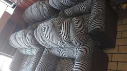 Brand new Brown stripes lounge suite