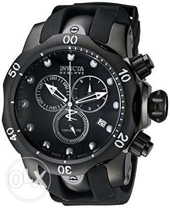 Invicta Men's 6051 Venom Reserve Black Stainless Steel Watch with Poly مصر الجديدة -  1