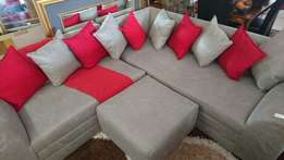 Lounge Suite L-shape Grey