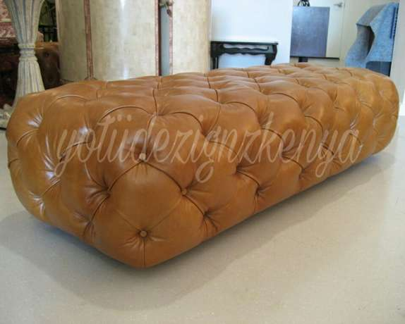 Sunset brown rectangular Ottoman Ongata Rongai - image 1
