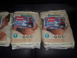 Pampers four packs plus 3 packs of wipes for sale. R700 for the lot