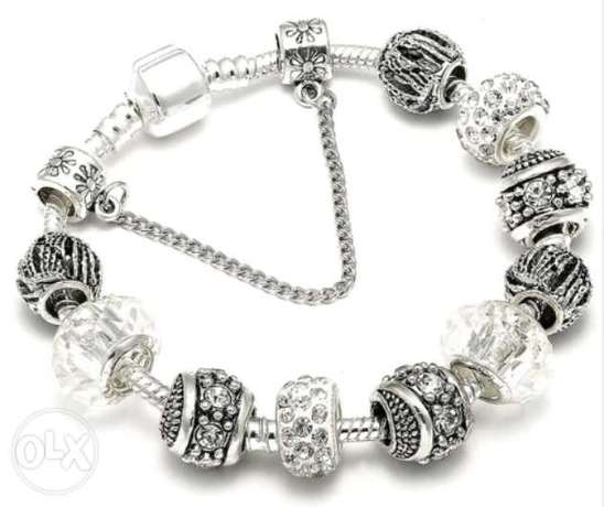 Pandora with charms silver 925 plated اسوره انسيال اشكال