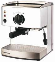 Morphy Richards stainless steal espresso/cappuccino machine