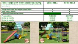 B11.2 Junior Jugle Gym with 4 seater double swing