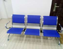 Exotic airport chair with leather pad