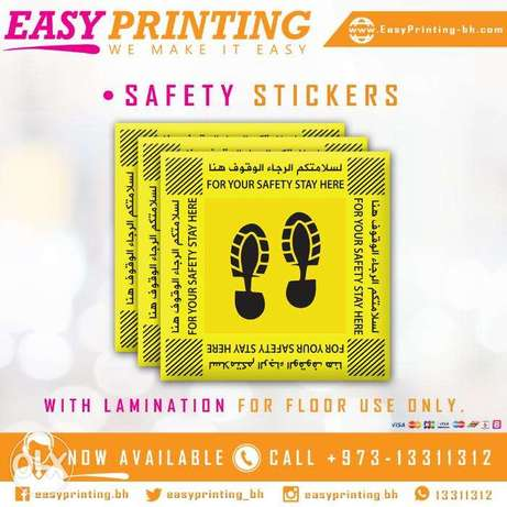 Safety Stickers for Safe Distance - With Free Delivery Service!