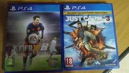 2 PS 4 games for sale