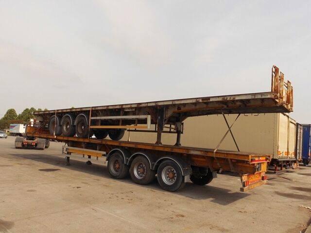 Sale s d c flat extender platform semi-trailer for  by auction - 2019