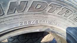 Used tyres for sale size 265/65/17 can work on fortuner and SUV
