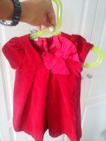 37ec57d6f9 Sukienka elegancka roczek aksamit dziewczynka 6-12 mies tj Zara