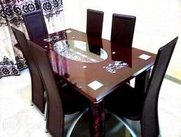Six Seater Dining Table (six chairs)