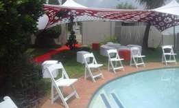 wimbledon chairs,tiffany,plastic chairs,tables for hire.we do decor,ev