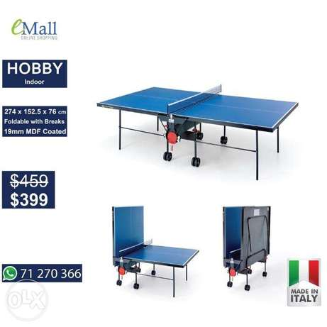 Hobby ping pong table tennis made in italy