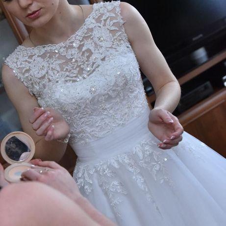57a484e8e8 suknia ślubna Sincerity 3804 biała rozmiar 34 36 salon Mariaż Radom - image  1